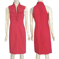 Richard Malcolm Cherry Red Dress Jabot Ruffles NWT Size 10