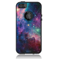 iPhone 5 / 5S Case [Black] Nebula Galaxy [Dual Layer] UnnitoTM *1 Year Warranty* Case Protective [Custom] Commuter Protection Cover iPhone 5S
