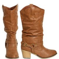 Tall Leatherette Harness Boot | Shop Shoes at Wet Seal