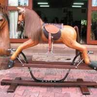 Wooden Rocking Horse Ride On Toy Swing Wing Style Decoration Animal Toy - Buy Wooden Rocking Horse Decoration Toys,Ride On Toy,Jumping Animal Toy Product on Alibaba.com