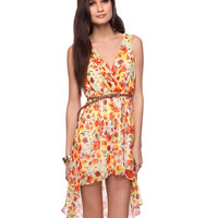 Poppy High-Low Dress w/Belt | FOREVER21 - 2000041600