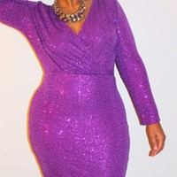 Sugar Plum Sequin Dress