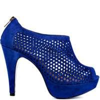 Steve Madden's Blue Hawkins - Navy Suede for 124.99 direct from heels.com