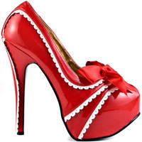 Bordello's Multi-Color Capital City - Red White Pat for 84.99 direct from heels.com