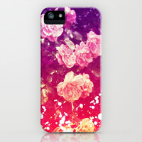 Painted Roses - for iphone iPhone & iPod Case by Simone Morana Cyla