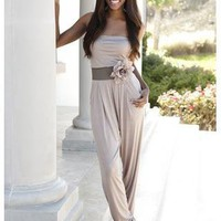 STRAPLESS HAREM JUMPSUIT | Body Central
