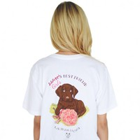 Girl's Best Friend Tee in White by Lauren James