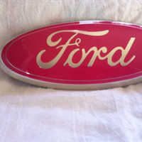 "Ford Oval Emblem,9 inch all models,peel & Stick,oem,Custom Painted ""PINK"",other sizes too"