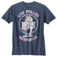 Men's Breaking Bad Los Pollos Hermanos Graphic Tee - Heathered Navy