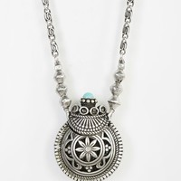 Sculpted Bottle Pendant Necklace- Silver One