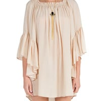 Ruffle Sleeves Boho Dress