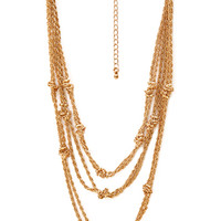 Standout Knotted Chain Necklace