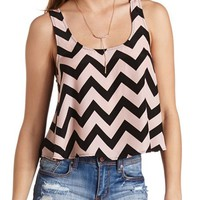 PRINTED RACERBACK SWING CROP TOP