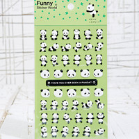 Dancing Panda Stickers - Urban Outfitters