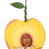Peach Bird Feeder