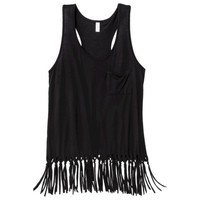 Xhilaration® Junior's Fringed Tank - Assorted Colors
