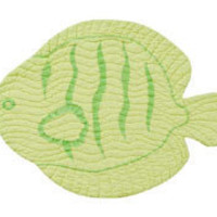 Green Fish Shaped Placemats