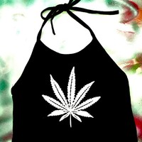 SWEET LORD O'MIGHTY! MARIJUANA HALTER IN B/W