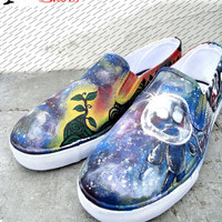 BOB in Space painted size 12 mens slip on shoes by BRGproductions