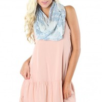 Blush Ruffle Tank Dress