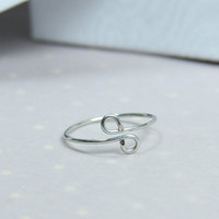 Silver Knuckle Ring, size 4