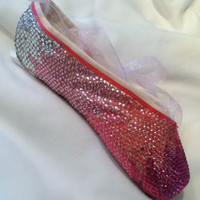 Fire and Ice ... Decorated Pointe Shoe