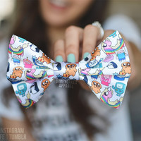 Chibi Adventure Time Hair Bow - Dimeycakes - Hair Bows, Cases, & Apparel