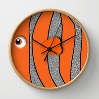 Ornamental Orange Fish Disney finding nemo Decorative Circle Wall Clock Watch by Three Second