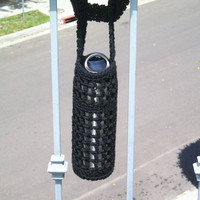 Black Water Bottle Carrier by ZiziRho on Etsy