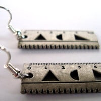 Mini Ruler Earrings by AshleysCharm on Etsy