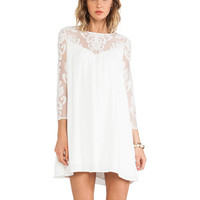For Love & Lemons Bonita Dress in White