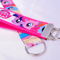 Set of 2 Little Pony ribbon keychain and a lanyard