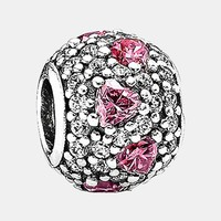Women's PANDORA 'Shimmering Heart' Pave Bead Charm