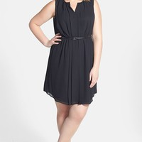 Halogen Belted Chiffon Dress