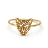 tiger ring, in gold