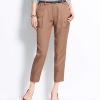 Fluid Linen Ankle Pants