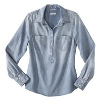 Merona® Woven's Favorite Popover Shirt - Denim