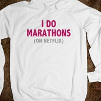 I DO MARATHONS (ON NETFLIX) - RED PINK