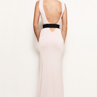 CHELSEA - More Colors - Backless Cut Out Bandage Belt Jersey Gown