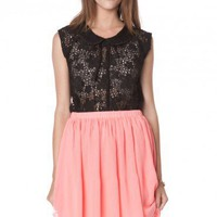 Riah Peter Pan Collar Top - ShopSosie.com
