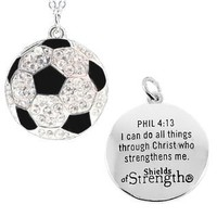 Soccer Pendant Womens Necklace