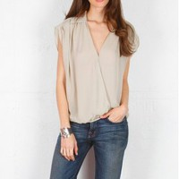 Parker > Parker Shoulder Yoke Top