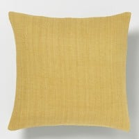 Solid Silk Hand-Loomed Pillow Cover - Horseradish