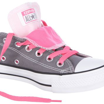 Converse Double Tongue Grey-Pink Womens Shoes