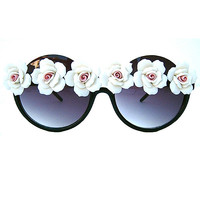 White Floral Sunnies