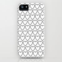 Black&White Hearts iPhone & iPod Case by An Luong