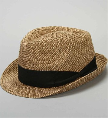 Multi Color Straw Fedora Hat