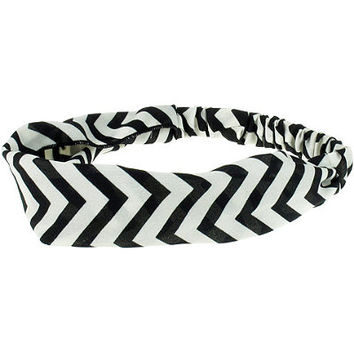Zigzag Stripes Headwrap White