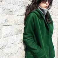 Green Sheep plush short overcoat/Temperament - beautiful - unique -...... | funnygirl5588 - Clothing on ArtFire