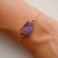 Druzy Bracelet in Purple by 443Jewelry on Etsy